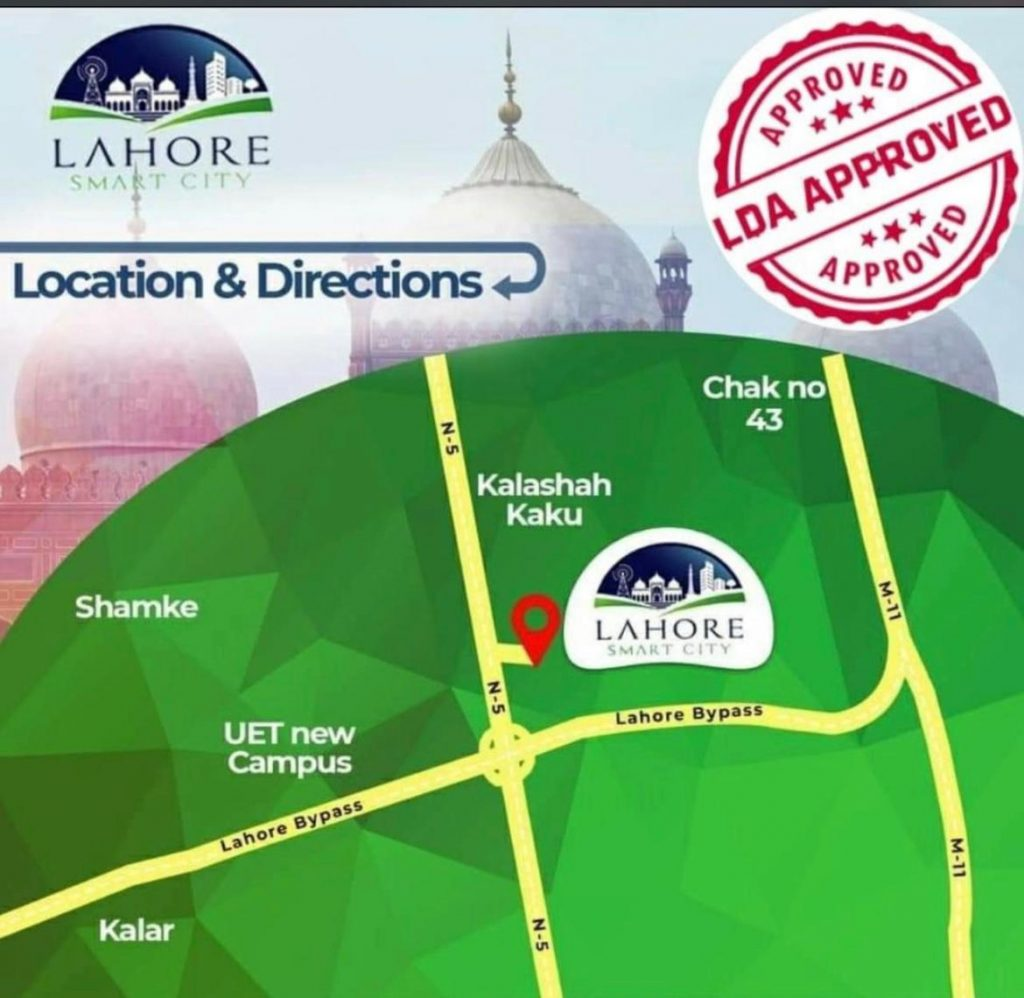 Location of Lahore samrt City