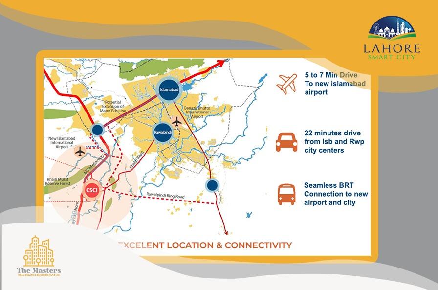 Capital Smart City Islamabad Location